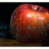 写真で一言「ファンタスティックとピクセルで表現された、林檎」